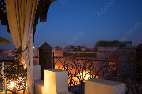 oriental night roof view in marrakesh © DSGNSR