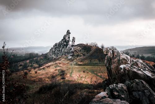 Foto Spatwand Zwart Felsen