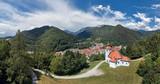 Panorama view of Trzic, Slovenia, Europe