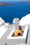 Greece, greek islands typical view, Santorini - 215951710