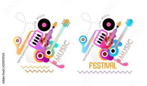 In de dag Abstractie Art Music Festival Poster Design