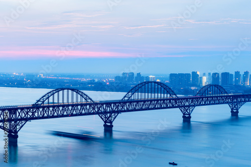 Obraz na płótnie jiujiang yangtze river bridge