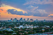 Drone Aerial of Fort Lauderdale Florida FL Skyline