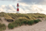 Lighthouse List-Ost on teh island Sylt, Germany  - 215979563