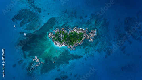 Canvas Tropical strand Seychelles Isola Coco