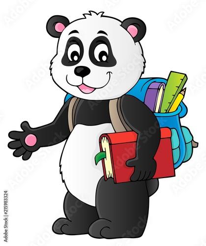Canvas Voor kinderen School panda theme image 1