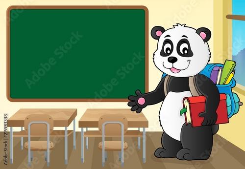 Canvas Voor kinderen School panda theme image 2
