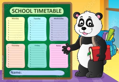 Canvas Voor kinderen Weekly school timetable template 6
