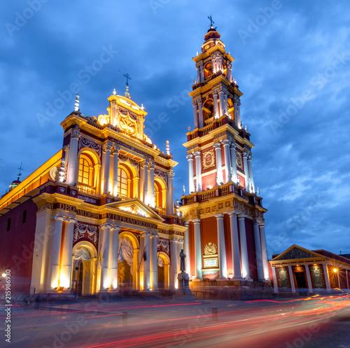 Canvas San Francisco San Francisco Church at night - Salta, Argentina