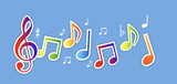 musica, note, note musicali, festa, v