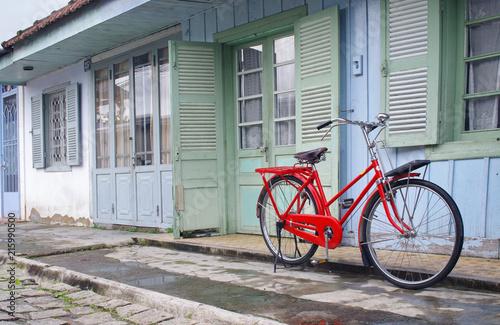 Foto Spatwand Fiets vintage bicycle