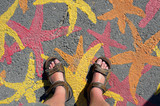 Sandals and Starfish Graffitti