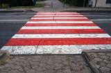 Crosswalk. Pedestrian crossing marking. - 216013988