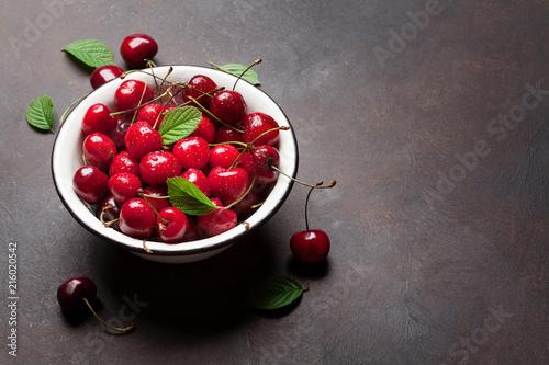 Foto Spatwand Kersen Fresh summer cherry