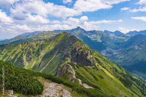 Beautiful view on Polish Tatra mountains.