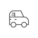 Toy car line icon
