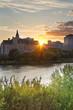 Summer Evening Alone the Rive in Saskatoon