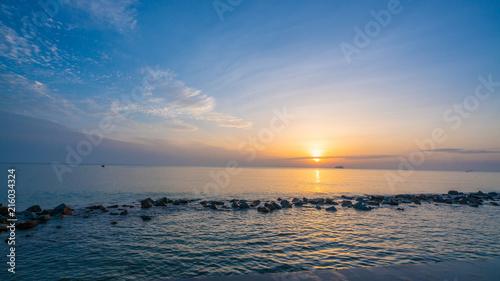 Fotobehang Zee zonsondergang Sea Sunrise View