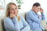 Attractive couple in quarrel at home - 216034598