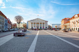 Town Hall in the historic part of the old city of Vilnus. Lithuania. - 216082923