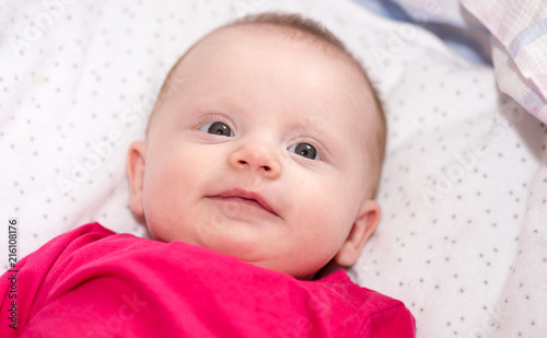 Portrait of smiling baby