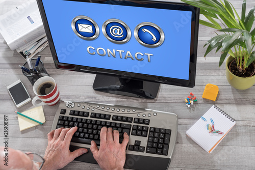 Contact concept on a computer