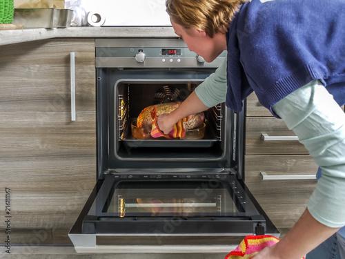 Baking goose