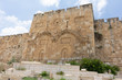 Golden gate of Jerusalem. Closed entrance to the temple-mount