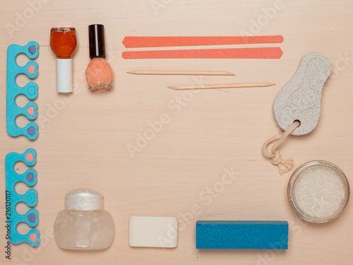 Canvas Pedicure Pedicure accessories tools top view