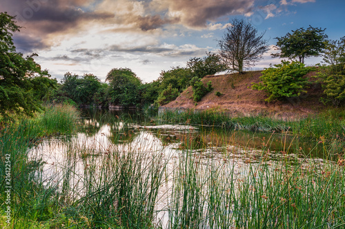 Littlemill Quarry Nature Reserve Pond / The Nature Reserve is a disused limestone quarry at Littlemill in Northumberland near Howick, also called Evelyn Howick Memorial Reserve