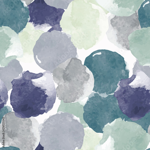 Abstract painting universal freehand watercolor seamless pattern. Graphic design for background, card, banner, poster, cover, invitation, placard, header or brochure. Hand drawn vector texture - 216125543
