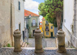A small street with stairs in Alfama. Lisbon, Portugal
