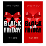 Black friday banners with bow - 216134399