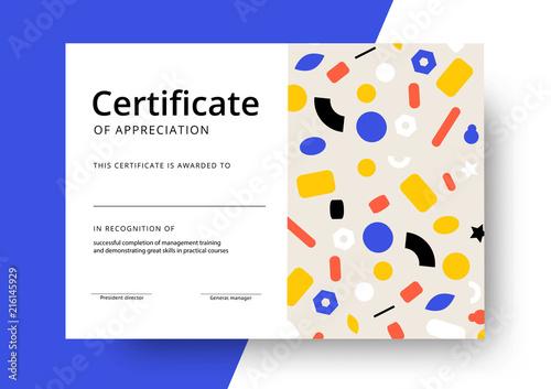 certificate of appreciation template design elegant business