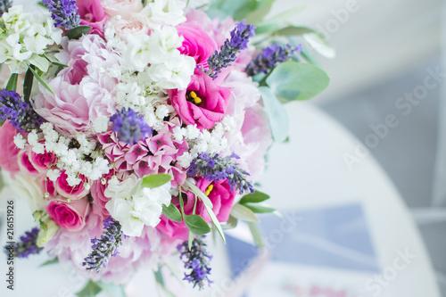 Leinwandbild Motiv Bouquet de la mariée