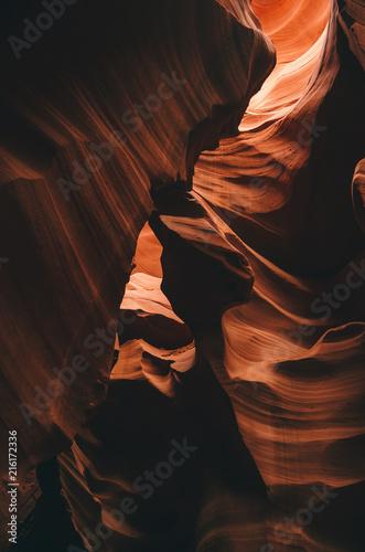 Aluminium Arizona Amazing textures in Antelope Canyon, Navajo Tribal Park, Arizona, USA