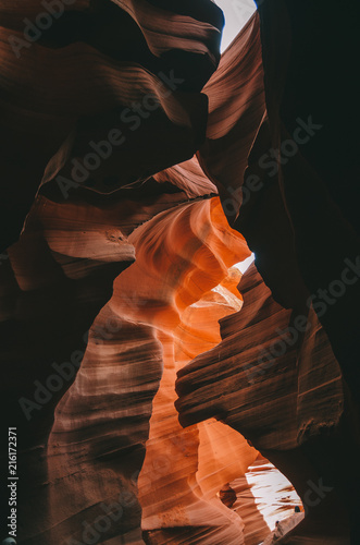 Foto Spatwand Arizona Amazing textures in Antelope Canyon, Navajo Tribal Park, Arizona, USA