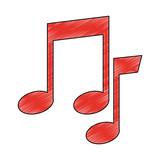 Music notes symbol vector illustration graphic design - 216173559