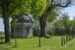 Leinwanddruck Bild - Bergkapelle im Frühling