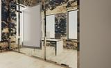 Modern meeting room. 3D rendering.. Empty paintings