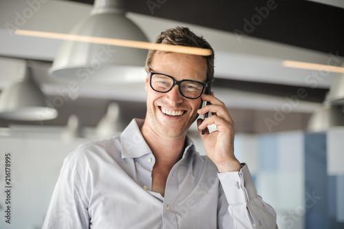Leinwandbild Motiv Charming businessman