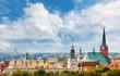 Panoramic view of Szczecin City downtown, Poland. - 216180386