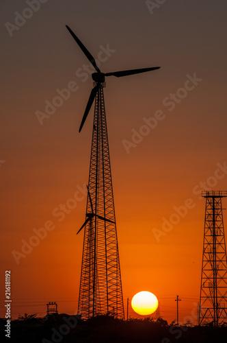 Foto Murales Wind turbines near Jaisalmer