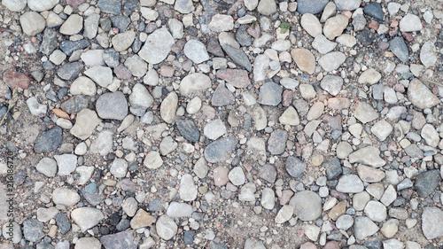 Aluminium Stenen path with small stones, background for presentation