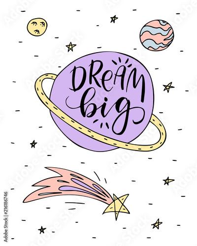 plakat-z-planetami-i-gwiazdami-miej-wielkie-marzenia