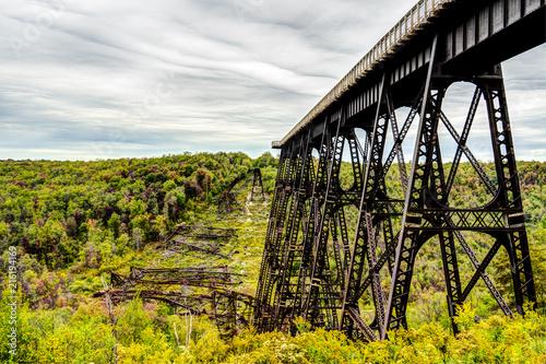 Foto Spatwand Zwart Kinzua bridge
