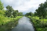 Water stream in river. Slovakia