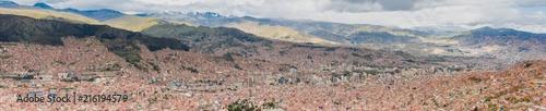 La Paz Bolivia,  aerial city panorama - 216194579