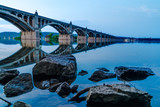 Columbia/Wrightsville Bridge at dusk