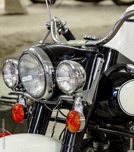 Foto Spatwand Fiets old motorcycle engine